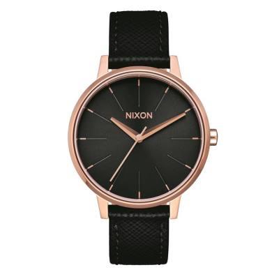 Nixon The Kensington Leather Rose Gold/Black