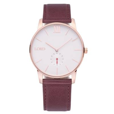 Lord Timepieces Solitude Rose Gold Brown
