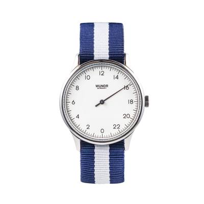 Wundrwatch Daymaster Silver Nato Blue/White