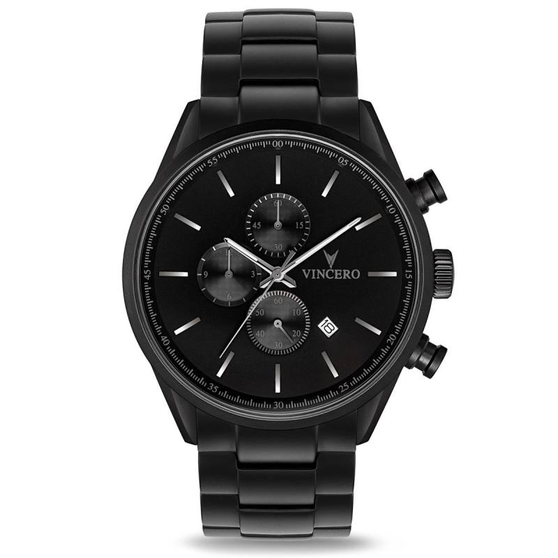 Vincero The Chrono S - Matte Black Steel