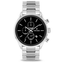 Vincero The Chrono S - Black/Silver Steel