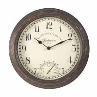 Outside-In Bickerton Wanduhr mit Thermometer