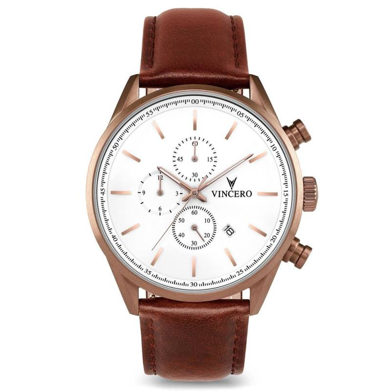 Vincero The Chrono S - Copper Cognac