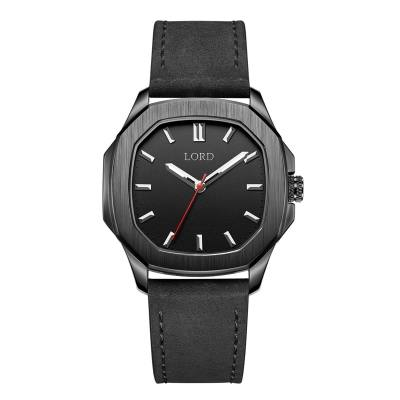 Lord Timepieces Astro Knight Black Leather