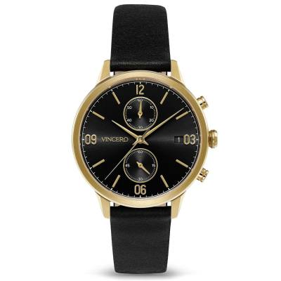 Vincero The Reign Jet Black/Gold